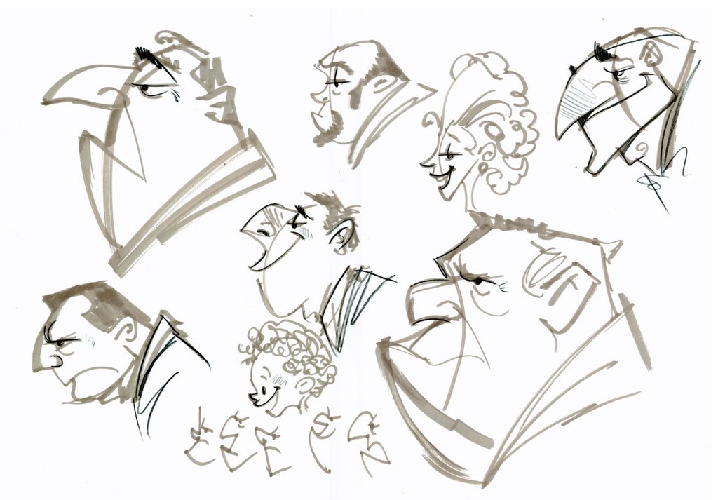 Pixar Character Design Process : John nevarez november