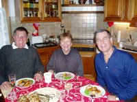 Peter, Zydre and Bob at Xmas lunch