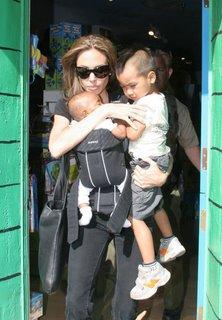 Angelina Jolie with her children Maddox and Zahara