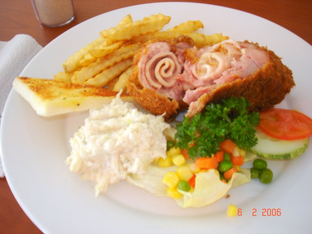 chicken cordon blue is one of my favourite the chicken is rolled ...