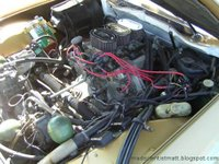 The Citroen's engine compartment