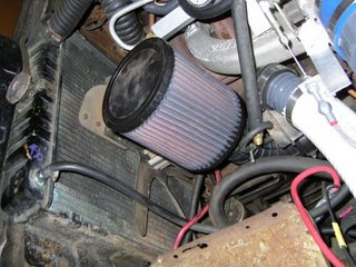 Where to put the air filter on a turbo slant six?
