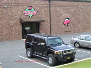 A Hummer visiting the Microcar Musuem