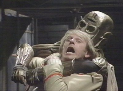 The fifth Doctor, getting caught for stealing some celery