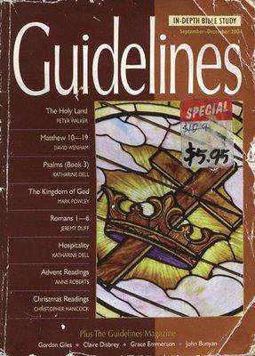 Guidelines September-December 2004