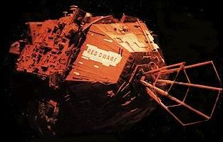 The mining ship Red Dwarf