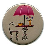 French Cafe Button