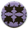 Purple Autumn Leaf Compact Mirror