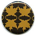Gold Autumn Leaf Compact Mirror
