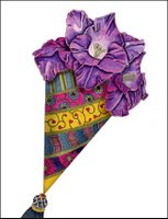 Purple Cone Greeting Card