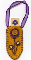 Gold Flower Tag