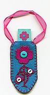 Blue Flower Tag