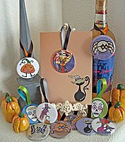 Halloween Button Hanging Gift Tags