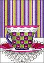 Flower Tea Cup Magnet