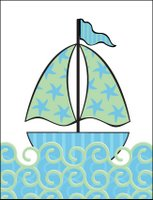 Sailboat Invitation Front