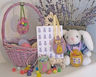Easter Egg Felt Tags