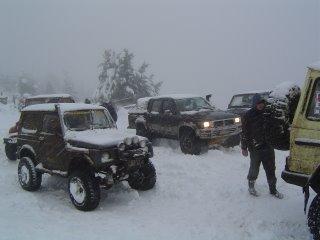 Jeeps en la Nieve