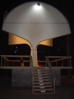 Francisco en la Plaza de Ovalle