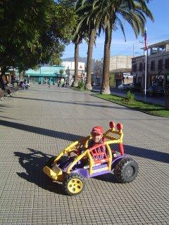 Francisco a lo Shumi en la Plaza de Ovalle