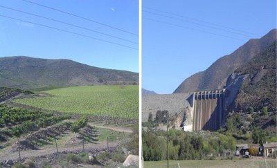 Foto Izquierda:Plantaciones en Monte Patria - Foto Derecha:Vista de el Embalse La Paloma