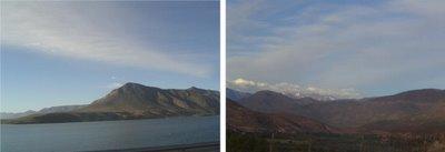 Foto Derecha: Embalse Recoleta - Foto Izquierda: Vista del Valle