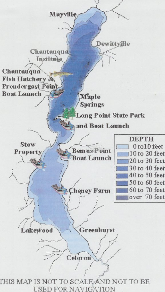 Chautauqua Lake Living - Water depth map