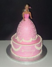 Crazy Cake Designs: Barbie Princess Birthday Cake Design
