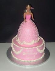 Crazy Cake Designs: Barbie Princess Birthday Cake Design