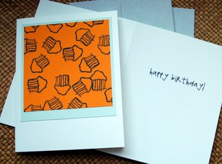 Birthday cards with Sara's font inside