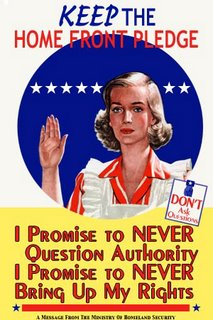 Poster: never question authority