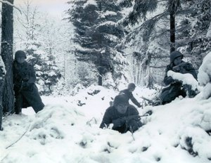 American soldiers photographed in the Ardennes during the Battle of the Bulge.www.answers.com/topic/battle-of-the-bulge