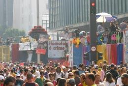 Parada do Orgulho GLBT - Av. Paulista. Foto de Lauro Marques