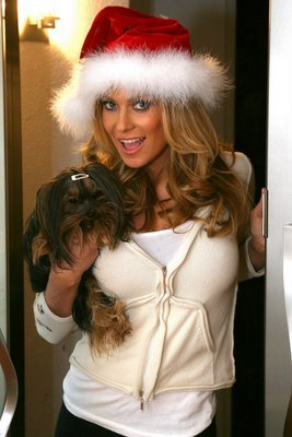 Carmen Electra & Her Dog Wishing You a Merry Christmas