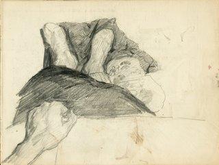 Schets door Isaac Israels vanuit zijn ziekenhuisbed; 1919