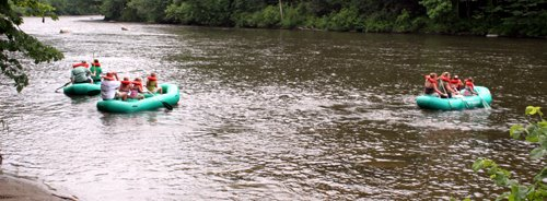 Housatonic River in a Raft