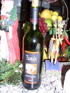 2001 Tamas Cabernet Sauvignon