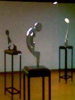Sala de Exposicion Escultorica de Olga Guevara en la Casa de la Cultura Ecuatoriana