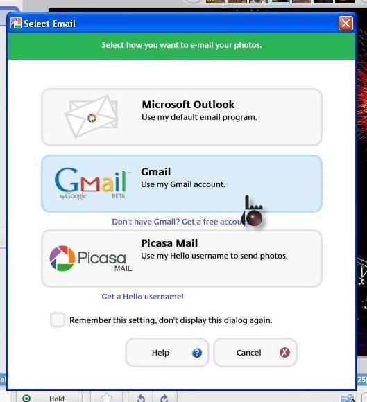 how to send photos via email