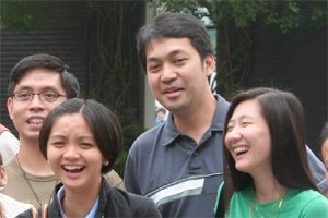 Chito with Singles For Christ members