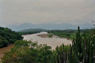 El río Magdalena. La foto la hice en febrero de 2006