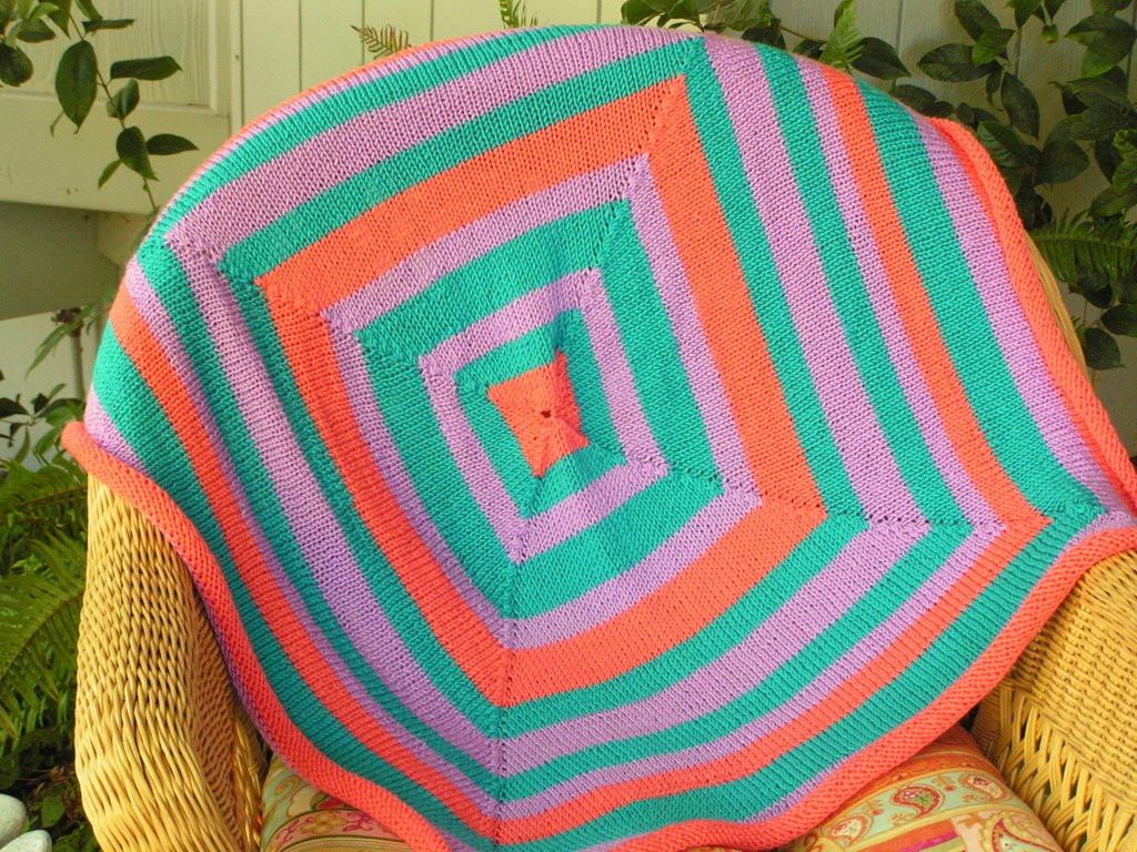 Res Ipsa Knit With Her: Circular Mitred Square Blanket