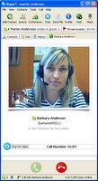 Screenshot Beta versie Skype met video conferencing