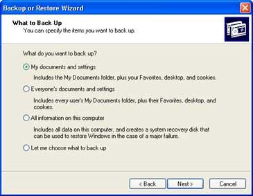 Windows Backup Figure 1