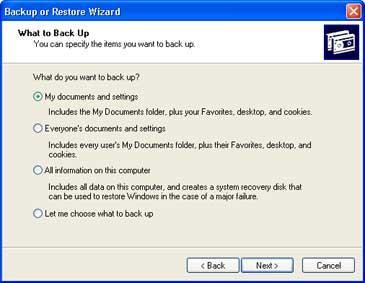 Windows Backup Figure 1