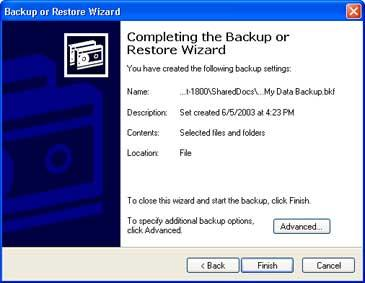 Windows Backup Figure 3