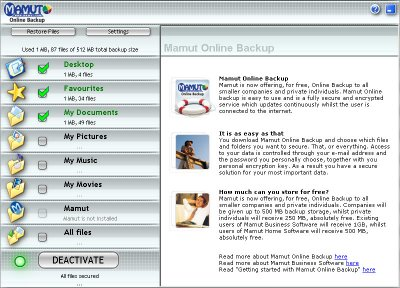 Mamut Online Backup