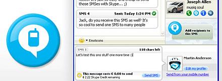Skype SMS