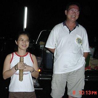 Ng Guat Ling with Sagoh