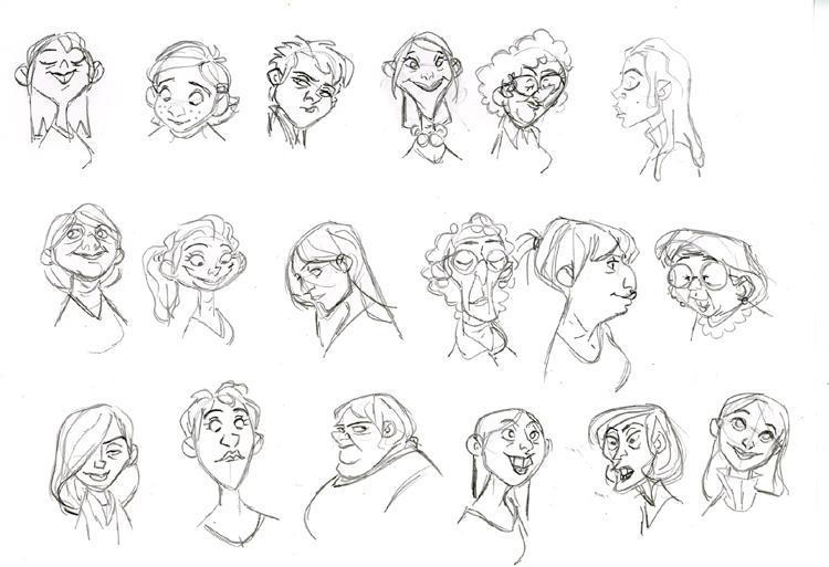 Pixar Character Design Tips : Pixar character design process pixshark images
