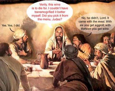 Jesus drinks wine, George.
